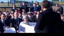 """Cérémonies du Débarquement : Emmanuel Macron dit son """"plaisir"""" d'avoir travaillé avec Theresa May"""