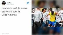 Copa America 2019. Blessé face au Qatar, Neymar forfait pour la compétition