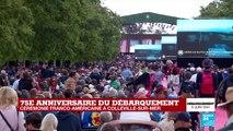 D-Day : la cérémonie franco-américaine débute à Colleville-sur-Mer