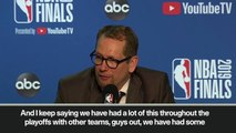 (Subtitled) Nick Nurse praises his team after beating Golden State Warriors in Game 3 of NBA Finals