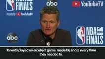 (Subtitled) Kerr 'very proud' of his men after defeat to Golden State Warriors in NBA Finals