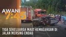 Tiga sekeluarga maut kemalangan di Jalan Mersing Endau