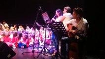 Sarreguemines : 200 écoliers chantent en allemand sur la scène de l'hôtel de ville