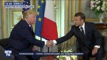 """Trump évoque une """"relation exceptionnelle"""" avec Emmanuel Macron"""