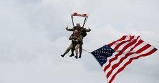 75 ans après le Débarquement en Normandie, ce vétéran américain refait un saut en parachute