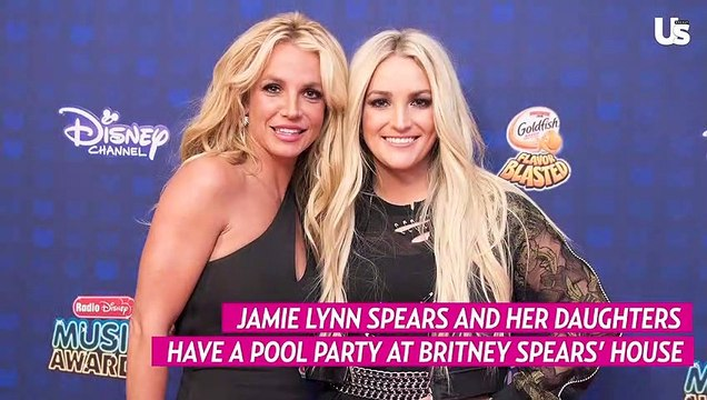 Jamie Lynn Spears and Her Daughters Have a Pool Party at Britney Spears' House