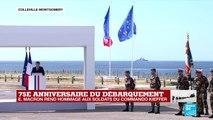Discours : Emmanuel Macron rend hommage au commando Kieffer