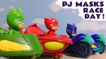 PJ Masks Race Day with Disney Pixar Cars 3 Lightning McQueen with Marvel Avengers 4 Endgame & DC Comics Superheroes in this Learn Colors Learn English Full Episode