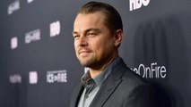 Leonardo DiCaprio Attends Premiere of 'Ice On Fire' With His Dad