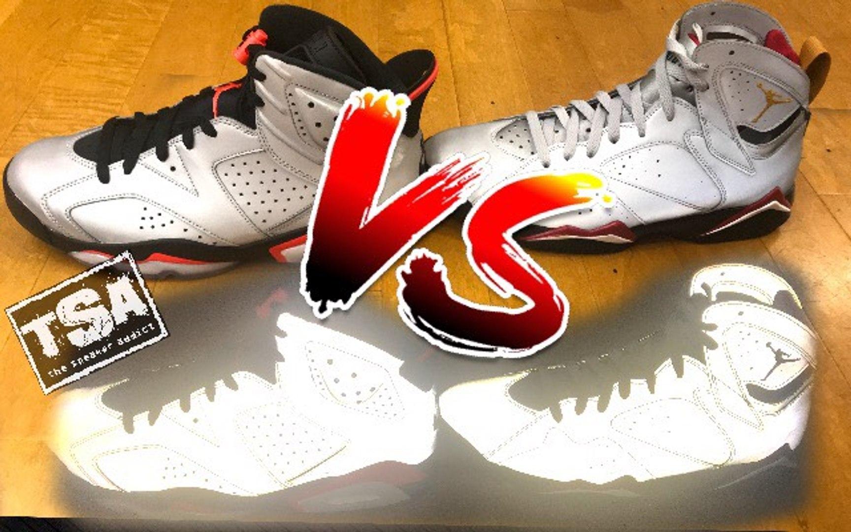 Air Jordan 6 VS 7 3m Retro Reflection Of A Champion Sneaker Battle PickOne