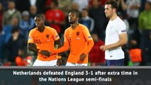 England lose UEFA Nations League semi-final against Netherlands