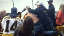 Bruins Fans ATTACK Blues Fans In EPIC Brawl As Blues Fans CHOKE Drunk Bruins Fans!