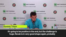(Subtitled) Thiem promises against Djokovic that he will try everything