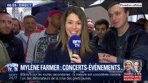 Avant le retour sur scène de Mylène Farmer ce vendredi, les fans font déjà la queue devant la U Arena