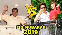 Salman Khan VS Shahrukh Khan _ Wishes EID MUBARAK To Fans _ Outside Galaxy & Man