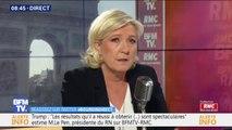 """Marine Le Pen: """"Les LR, je ne sais pas ce que c'est, je ne sais pas ce qu'ils portent comme idées politiques"""""""
