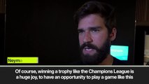 (Subtitled) Liverpool's Alisson reflects on his 'gigantic joy' at winning the Champions League