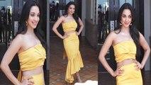 Kiara Advani looks hot in yellow dress; Watch Video | Boldsky