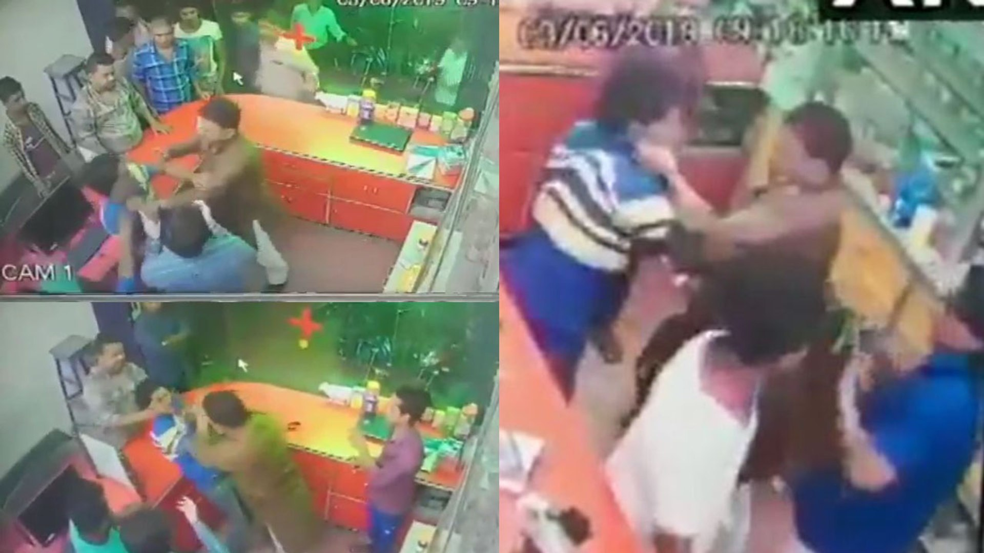 BJP leader Renu Devi's brother assaults chemist for not standing up   Viral Video   Oneindia Ne