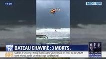Bateau chaviré aux Sables-d'Olonne: des pompiers et des plongeurs encore en intervention