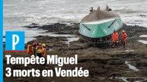 Tempête Miguel : 3 morts après le chavirage d'une vedette de la SNSM