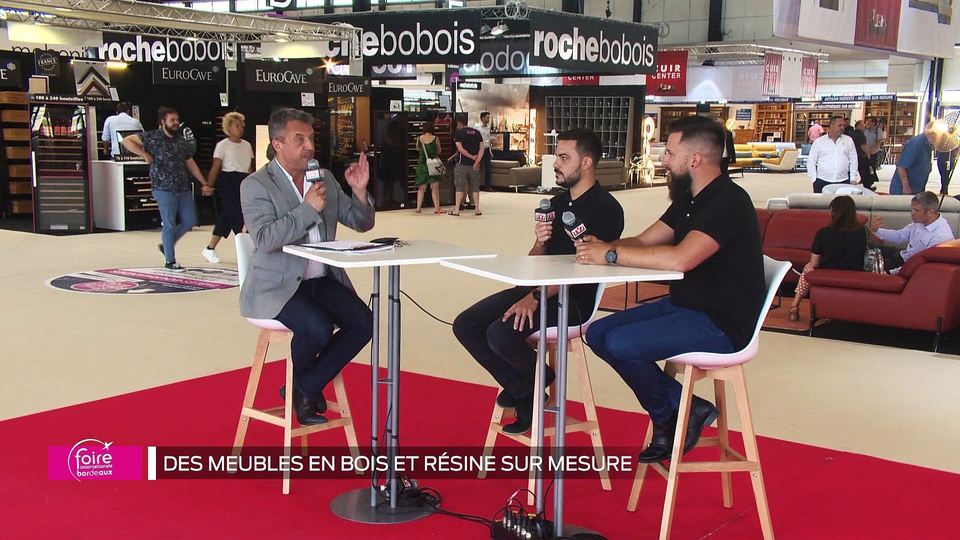 Meuble Sur Mesure Bordeaux emission spéciale foire : des meubles en bois et résine sur mesure