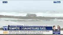 """La présidente de la région des Pays de la Loire salue """"le courage des bénévoles"""" de la SNSM"""