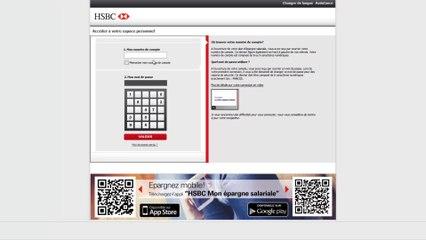 HSBC Espace Epargnant: tutoriel d'aide à la connexion
