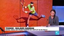 Roland-Garros : Rafael Nadal bat Roger Federer en 3 sets et va en finale