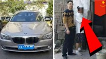 Chinese farmer pushing $300,000 BMW steals livestock for gas