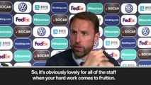 (Subtitled) Southgate on penalty shootout win and Pickford taking a spot-kick