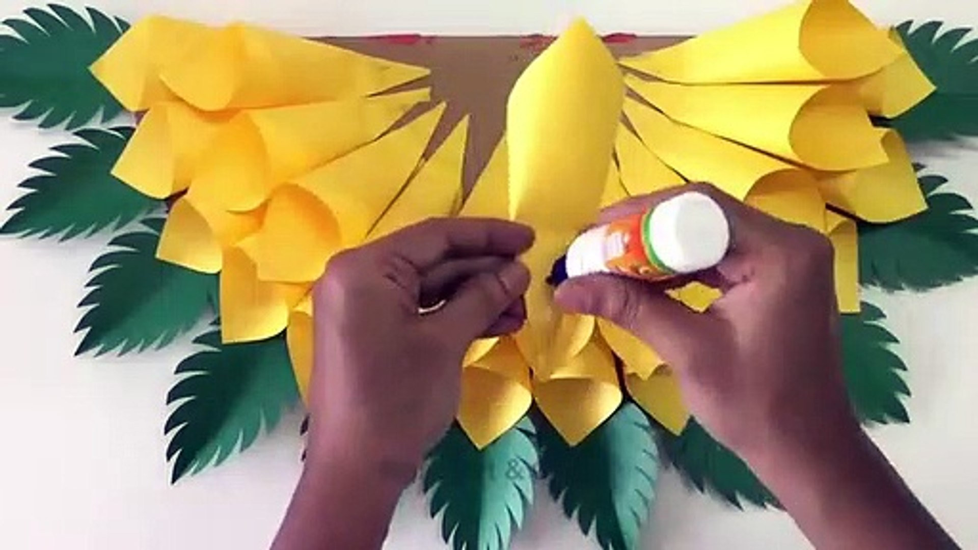 How to make an origami sunflower: page 3 | 1080x1920