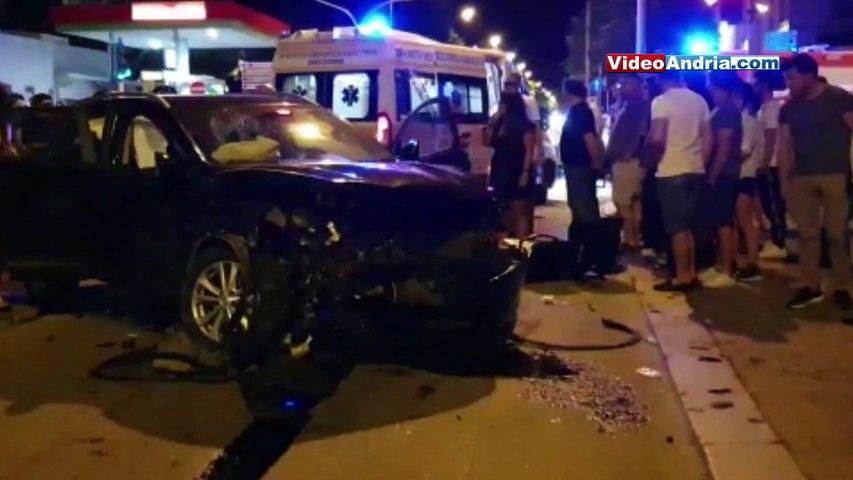 Spaventoso incidente ad Andria: due auto distrutte