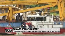 Crane reaches site of deadly Danube boat sinking