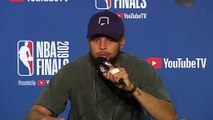 (Subtitled) Curry 'believes' the team can bounce back after a 3-1 deficit in the NBA Finals
