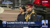 Le prince Harry et Meghan arrivent pour célébrer le 93e anniversaire de la reine