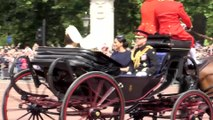 Right Now: Kate Middleton, Meghan Markle and Prince Harry in Horse Drawn Carriage at 2019 Trooping of the Color