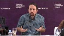 """Iglesias dice que los """"malos y decepcionantes"""" del 26M son """"un problema de todos""""."""