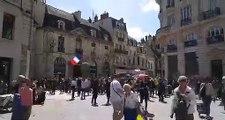 Les manifestants sont rassemblés place du Bareuzai à Dijon
