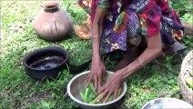 Village Aliments  Cuisson Dame Doigts dans mon Village par la grand-mère  Délicieuse Recette de Gombo