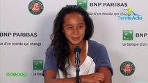 "Roland-Garros 2019 (Juniors) - Leylah Annie Fernandez wins : ""Bianca Andreescu and Felix Auger-Aliassime, it's inspiring"""