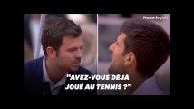Novak Djokovic s'agace contre l'arbitre à Roland-Garros