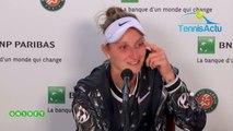 """Roland-Garros 2019 - Marketa Vondrousova : """"Ashleigh Barty gave me a lesson"""""""