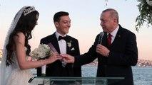 Turkish President Erdogan Takes On Role Of Witness For Mesut Ozil's Wedding