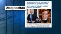 Michael Gove admite que consumió cocaína hace dos décadas