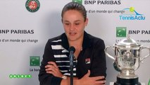 "Roland-Garros 2019 - Ashleigh Barty : ""The stars have aligned for me !"""