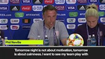 (Subtitled) Neville urges England Women to play with freedom and smile