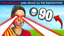 HACKER GETS BANNED LIVE! - Fortnite Funny Fails and WTF Moments!