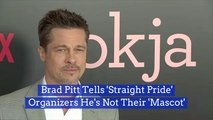Brad Pitt Doesn't Want His Face Associated With The 'Straight Pride' Group