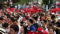 Massive crowds at Hong Kong streets protest extradition law